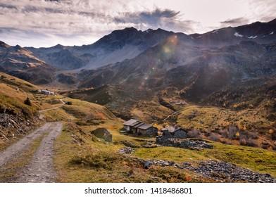 Alpine valley near Ste Foy de Tarentaise