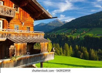 The alpine village of Alpbach and the Alpbachtal (Alpbach valley), Austria.