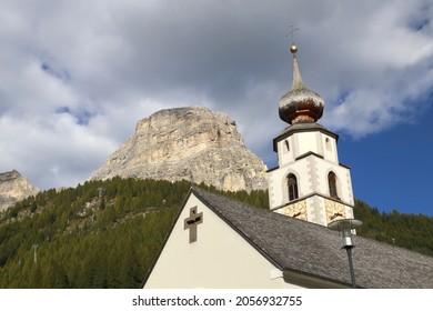 Alpine village of Dolomites at Calfosch, Italy