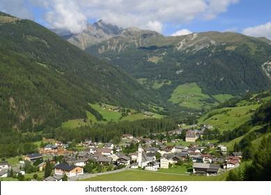 Alpine village Grosskirchheim Hohe Tauern national park Austria