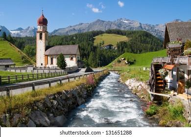 Alpine village of Niederthai in the Otztal valley, Tirol, Austria.
