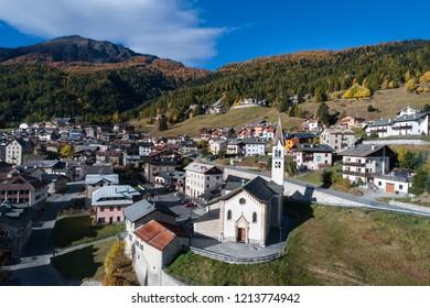 Alpine village of Oga, Bormio. Valtellina