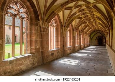 ALPIRSBACH, GERMANY - SEPTEMBER 1, 2019: Cloister of Alpirsbach Kloster (Monastery), Baden-Wurttemberg state, Germany