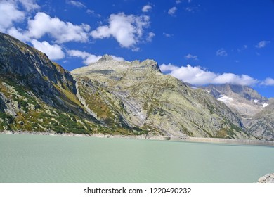 The Alplistock above the Raterichsbodensee just below the Grimsel Pass in central Switzerland. Part of the Bernese Alps