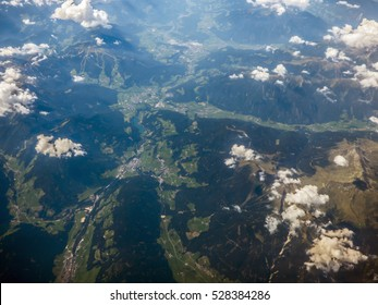 Alps from aerial view
