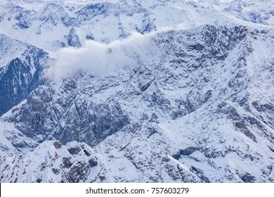 Alps in Austrian, aerial view