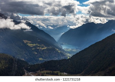 Alps and clouds.