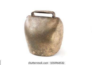 Alps cowbell isolated on white