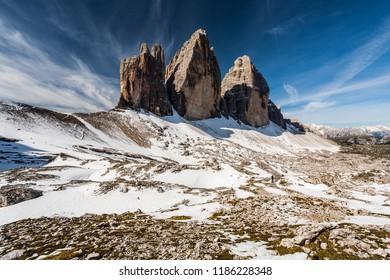 Alps, Dolomites, Tre Cime di Lavaredo