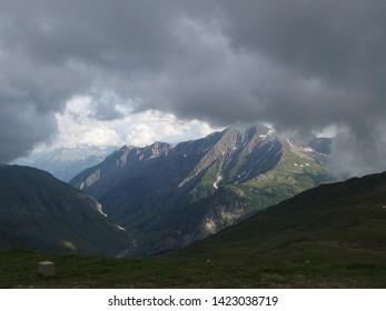 Alps, France, Tour du Mont Blanc - view from the Col de la Croix du Bonhomme