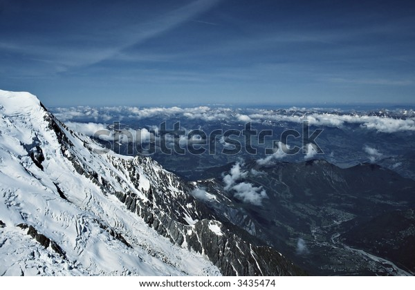 The alps from Mont Blanc.