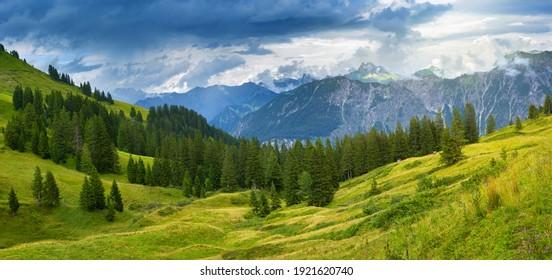 Alps mountain Fellhorn, Bavaria Germany