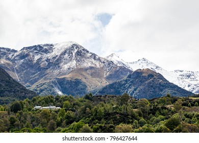 Alps Mountain Glaciers in New Zealand