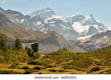 The Alps on a sunny day of June, 2017