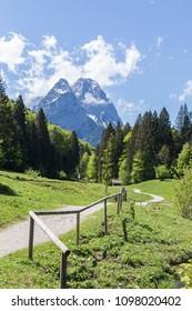 Alps panorama Garmisch-Partenkirchen Bavaria Germany.