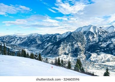 Alps panorama from Gastein. Bad Gastein, Austria.