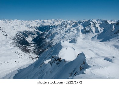 alps panorama from a high mountain