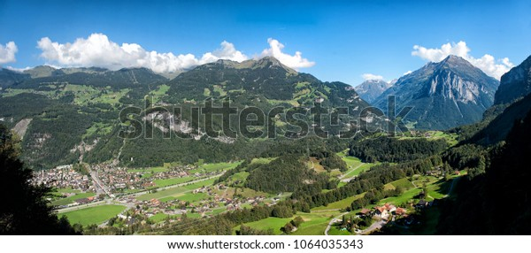 Alps panorama from Reichenbach Falls view point
