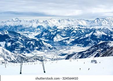 Alps panorama from Schmitten. Zell-Am-See, Austria.