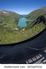 Alps scenery at Kitzsteinhorn dam