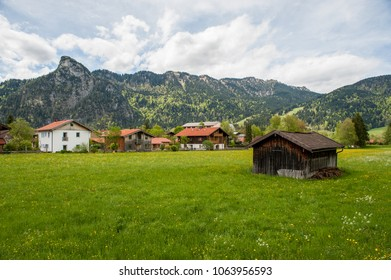 Alps valley in Oberammergau, Bavaria