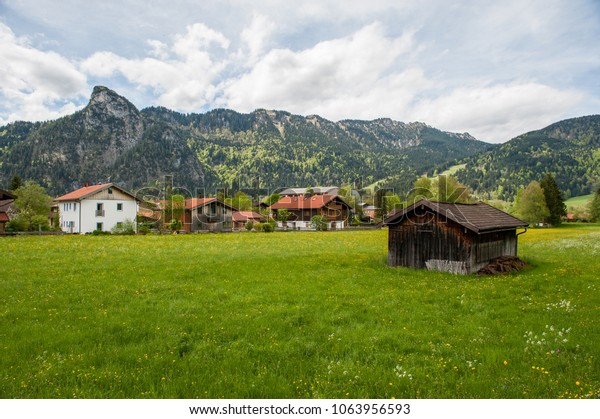 Alps valley in Oberammergau, Bavaria