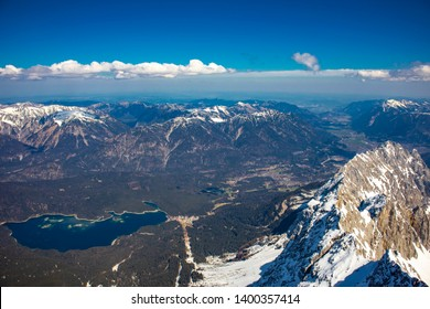 The Alps with view from the Zugspitze