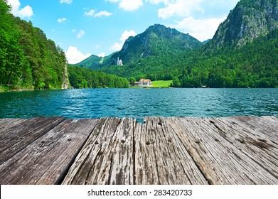 Alpsee lake at Hohenschwangau near Munich in Bavaria, Germany