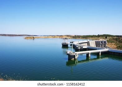 Alqueva dam, barrage.Alentejo region, Portugal