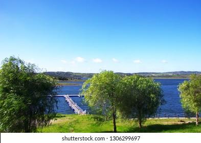 Alqueva lake near Amieira village, Portugal