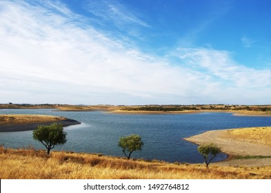 Alqueva lake near Estrela village, Portugal