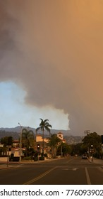 Already the third biggest wildfire in Californian history the Thomas Fire is closing in Santa Barbara - December 16 2017. Santa Barbara city center is deserted and closed.