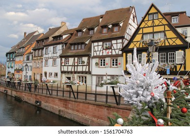 ALSACE, FRANCE - NOVEMBER, 2019: The scene and the architecture in Alsace before Christmas.