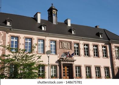 Alsace, Haut Rhin, the city hall of Thann