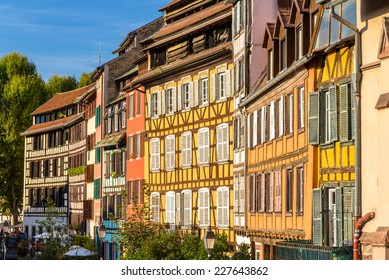 Alsatian half-timbered houses in Strasbourg