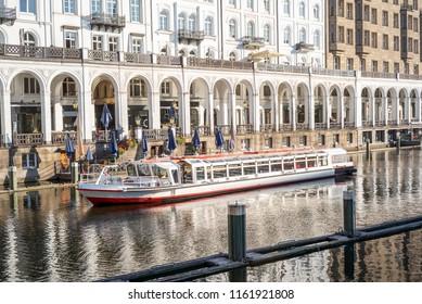 Alster boat in Hamburg, Germany