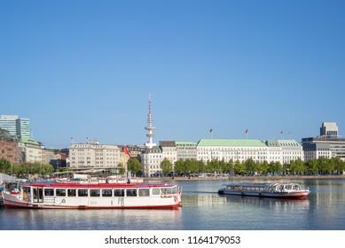 Alster boats in Hamburg, Germany