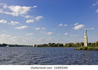 Alster lake in Hamburg.
