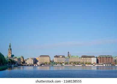 Alster river in Hamburg, Germany