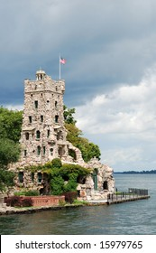 Alster Tower on Heart Island, 1000 Islands, St. Lawrence River, USA-Canada border