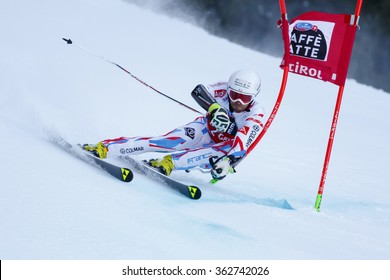 Alta Badia, Italy 20 December 2015.  FANARA Thomas (Fra) competing in the Audi Fis Alpine Skiing World Cup Men�¢??s Giant Slalom on the Gran Risa Course in the dolomite mountain range.