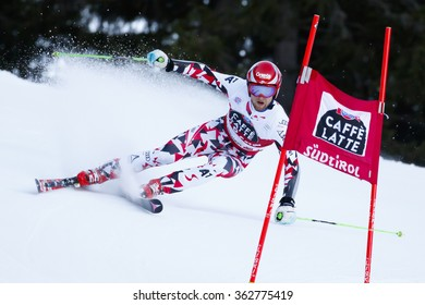 Alta Badia, Italy 20 December 2015.  SCHWARZ Marco (Aut) competing in the Audi Fis Alpine Skiing World Cup Menâ??s Giant Slalom on the Gran Risa Course in the dolomite mountain range.