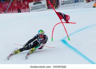 Alta Badia, ITALY 22 December 2013. NANI Roberto (ITA) competing in the Audi FIS Alpine Skiing World Cup MEN'S GIANT SLALOM.