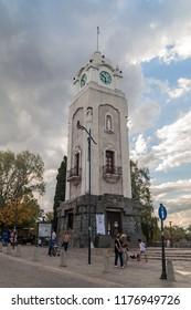 ALTA GRACIA, ARGENTINA - APRIL 3, 2015: Clock tower in Alta Gracia, Argentina