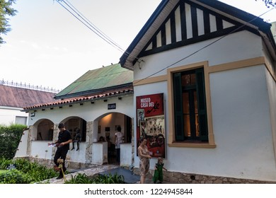 ALTA GRACIA, ARGENTINA - APRIL 3, 2015: Ernesto Che Guevara museum in Alta Gracia town, Argentina. Che Guevara lived in this house as a teenager.