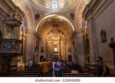 ALTA GRACIA, ARGENTINA - APRIL 3, 2015: Church in a former Jesuit mission in Alta Gracia, Argentina
