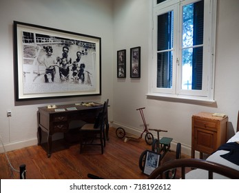 Alta Gracia, Cordoba, Argentina - 2017: Interior of the Che Guevara museum