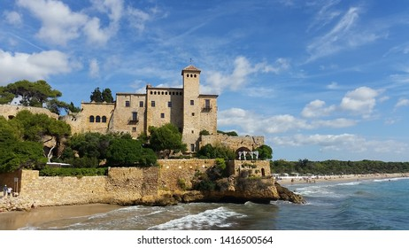 Altafulla, Spain, 9/25/2015: Castle of Tamarit