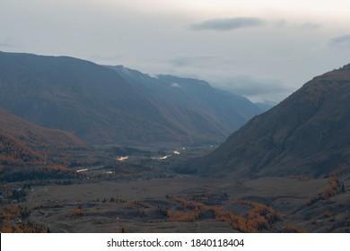 altai autumn's landscape, Siberia, Russia