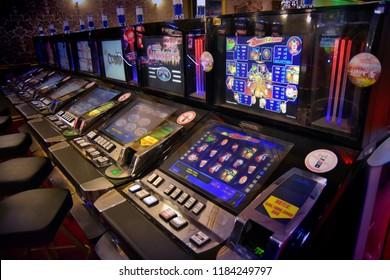 "Altai Krai, Russia-September 14, 2018. Casino in the gambling zone "" Siberian coin"""